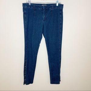 Vince Skinny Ankle Zipper Blue Jeans Sz 10
